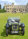 Classic austin ulster motorcar saffron walden essex england june in show at audley end house Royalty Free Stock Photos