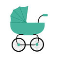 Classic Baby Carriage Vector in Flat Design.