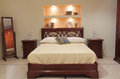 Classic bedroom with elegant wooden furniture