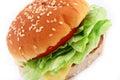 Classic Beef Burger Stock Photo