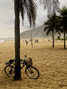 Classic bike in rio de janeiro ipanema beach bicycle at a beautiful Stock Images