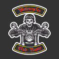Classic biker embroidery Royalty Free Stock Photo