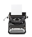Classic Black Typewriter Stock Photo