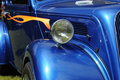 Classic Blue Car Royalty Free Stock Photo