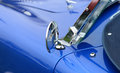 Classic blue sports car Royalty Free Stock Photo