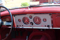 Classic British sports car cabin Royalty Free Stock Photo