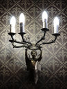 Classic bronze  Sconce Royalty Free Stock Photo
