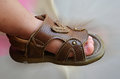 Classic brown baby shoe