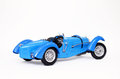 Classic bugatti sports car picture of an old isolated with a white background Royalty Free Stock Photos