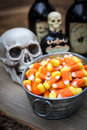 Classic candy corn halloween served at a halloween party Stock Photos
