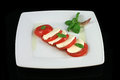 Classic caprese salad Royalty Free Stock Photography