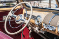 Classic car beautiful convertible interior view at show Stock Image