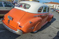 Classic car chevrolet sedan photo is shot at the fish market in halden norway Royalty Free Stock Photos
