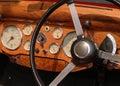 Classic Car Dials Stock Photo