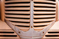 Classic car front grill close up of a and it s Stock Photos