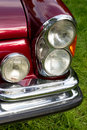 Classic car headlight close up of Stock Photo
