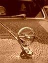 Classic car hood Stock Photos