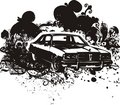 Classic car illustration Royalty Free Stock Photo