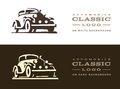 Classic car illustration, logo design Royalty Free Stock Photo