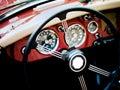 Classic car interior Stock Photos