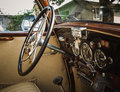 Classic car interior Royalty Free Stock Photo