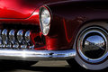 Classic Car: Red & Chrome Fender Shot Royalty Free Stock Photo