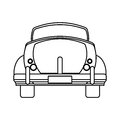 classic car travel image outline