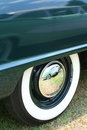 Classic Car Whitewall Tires Royalty Free Stock Photo