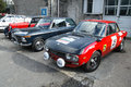 Classic cars lancia fulvia rally bmw ti Stock Photos