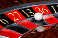 Classic casino roulette wheel with black sector thirteen 13 Royalty Free Stock Photo