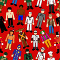 Classic Character seamless pattern Royalty Free Stock Photography
