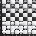 Classic checkers Stock Image