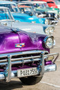 Classic chevrolet and other vintage cars in old havana colorful american Stock Images
