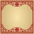 The Classic Chinese Background, The Window Frame Decoration