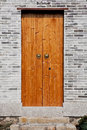 Classic chinese wooden door Royalty Free Stock Images