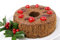 Classic Christmas Fruitcake Royalty Free Stock Photo