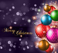 Classic Christmas Greetings background Stock Image