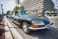 Classic citroen car iin nice during a parade france april the th citrolevens here on the promenade des angles in Royalty Free Stock Photo