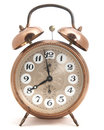 Classic clock isolated made of metal Royalty Free Stock Photography