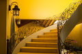 Classic colonial staircase from a low angle position Stock Photos