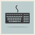 Classic computer keyboard on retro background vector Stock Photography