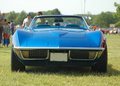 Classic convertible muscle car Royalty Free Stock Photos