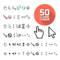 Classic cursor pack vector illustration for design Stock Photography