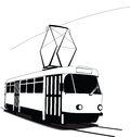 Classic Czech tramway in  Stock Photo