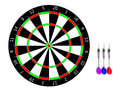 Classic darts board and Stock Images