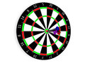 Classic darts board and Royalty Free Stock Images