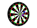 Classic darts board and Stock Image