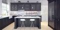 Classic design of kitchen
