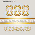Classic Diamond Jewelry Digit Vector Royalty Free Stock Photo
