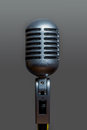 Classic Dynamic Vocal Microphone Metallic Silver Royalty Free Stock Photo